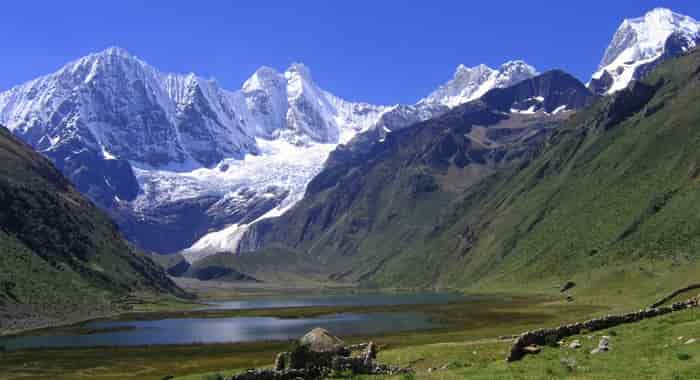 Landscape with Lake in the Andes Mountains
